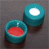 5st kvar! 9mm Green Screw Cap,  Beige PTFE/Silicone,  Bonded\p100
