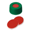 20st kvar! 9mm Cap, GR, PTFE red/Sil. white/PTFE red, 45°A, 1.0mm